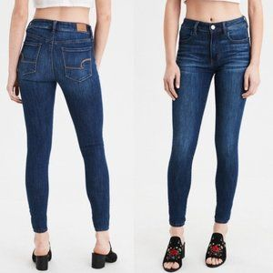AMERICAN EAGLE Blue Mid Rise Classic Jeggings